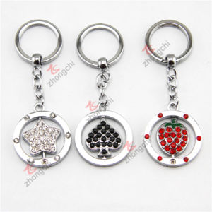 2015 Hot Selling Custom Metal Key Chain Crystal Love Heart Pendant Keychain pictures & photos