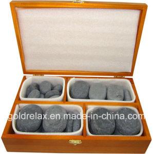 36PCS Hot Stone Massage (unpolished stone, nature stone)