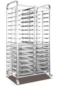 30tray Stainless Steel Bread Rack Trolley (30F) pictures & photos