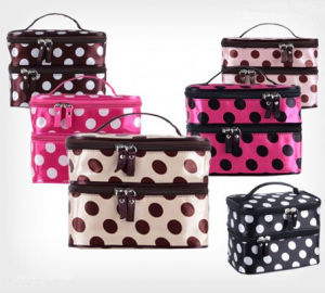 Fashion Double Layer Zip Cosmetic Organizer Bag (WH8203) pictures & photos