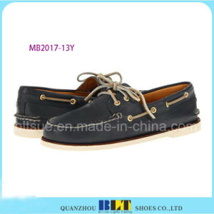 New Design Shop Boat Leather Shoes pictures & photos
