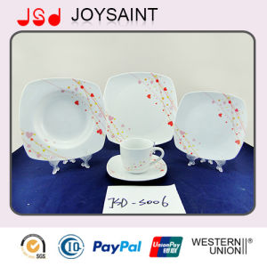 Hot Selling Square Porcelain Decal Dinner Sets pictures & photos
