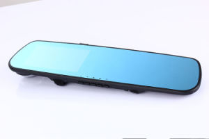 Digital Video Recorder Auto Blue Rear-View Mirror Car DVR Dual Lens Camera