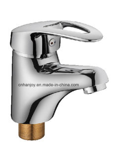 Hot Sale Deck Mounted Single Handle Brass Basin Tap (H10-401) pictures & photos