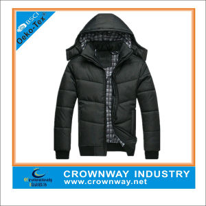 Men′s Winter Quilted Padded Jacket with Detachable Hood pictures & photos