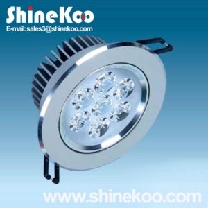 7W Aluminium LED Downlight Convex (SUN10-7W) pictures & photos