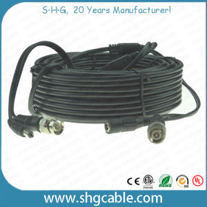 Hot Sale Rg59 + Powe Wire Coaxial Cable Assembly with BNC DC Connectors pictures & photos