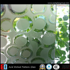 Frosted Art Patterned Glass /Acid Etched Art Shower Glass (AD39) pictures & photos