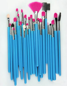Fan Brush Style Nylon Brush Material Blue Handle 32 Pieces Makeup Brush pictures & photos