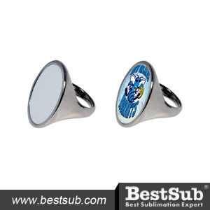 Bestsub Oval Shape Sublimation Personalized Fashion Alloy Ring (JZ02) pictures & photos