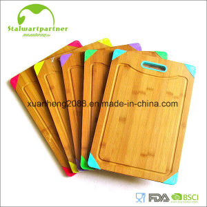 Bamboo Cutting Borad Set Chopping Block Cheese Board pictures & photos