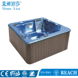 Square 5 Person Acrylic Whirlpool Massage SPA Tub (M-3327) pictures & photos