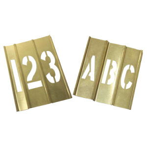 Brass Interlocking Stencil with Letters and Numbers (20Y518)