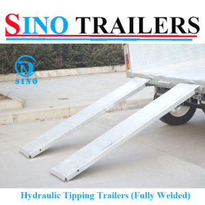 8X5 Hydraulic Tipping Box Trailer with Ramp pictures & photos