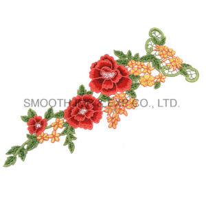 Fashion Flower Applique Embroidery Patches Garment Clothes Decorated Sewing Badge pictures & photos