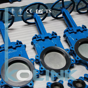 Cast Steel Knife Gate Valve Resilient Seated