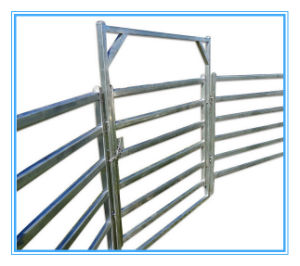 Hot Dipped Galvanized Corral Panels /Metal Livestock Farm Fence Gate pictures & photos