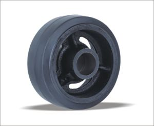 China Supplier 4 Inch Medium Duty Swivel Plate Rubber Wheel pictures & photos