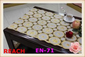 50cm PVC Golden Lace Table Cloth pictures & photos