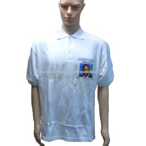 Advertise Sublimation Print Logo Polo T Shirt for Male pictures & photos
