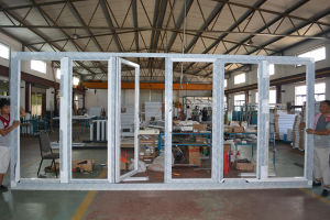 High Quality Thermal Break Aluminum Profile Folding Door K07011 pictures & photos