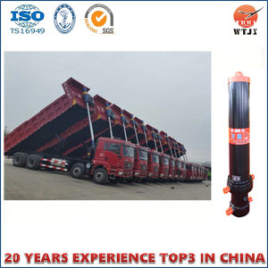 Front-End Tipping System for Dump Truck Cylinder Hyva Type Cylinder with Outer Cover pictures & photos