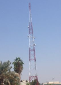 100 Meter Telecom Steel Tower with All Accessories in Middle East