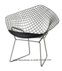 Modern Dining Restaurant Knock Down Steel Wire Diamond Chair pictures & photos