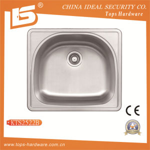 Stainless Steel Wash Basin of Kts2522b, Single Bowl Overmount Sink pictures & photos