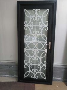 Decoration 1600*2300mm Galvanized Power Coated Wrought Iron Entrance Door/House Main Steel Glass Gate pictures & photos