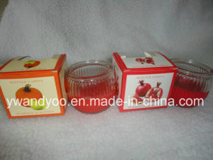 Sparkling Pomegranate Scented Organic Soy Wax Candle pictures & photos