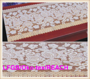 Vinyle Golden Long Lace Rolls Table Cloth 50cm Width pictures & photos