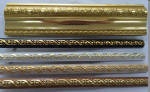 Golden/Coffee/Wooden/White Color PS Decoration Moulding Cornice pictures & photos
