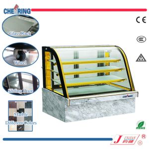 Cheering Hot Sale Commercial Curved Glass Marble Cake Showcase pictures & photos
