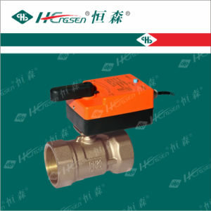 D Q F-D K Brass Motorized Ball Valve with Actuator pictures & photos