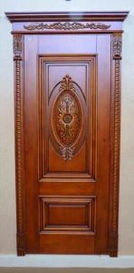 Red Walnut Solid Wooden Door pictures & photos