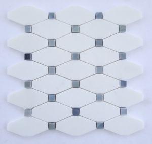 Decorative White Thassos Long Octagon Mosaic Tiles pictures & photos