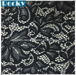 Hot Sale Flower Fashion Lycra Lace Elastic Fabric Lace pictures & photos