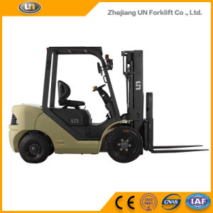 Un Brand 3.5t 3500kg Diesel Forklift with Triplex 5.5m Mast pictures & photos