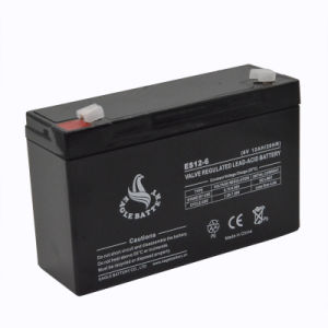 6V 12ah AGM Lead Acid Battery for UPS Solar System pictures & photos