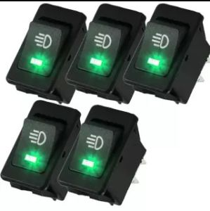 5 X 12V 35A Car Fog Light Rocker Toggle Switch 4pin Green LED Dashboard Sales pictures & photos