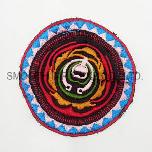 Fashion Colorful Round Ethnic Embroidery Patch Garment Accessories Boho Badge pictures & photos