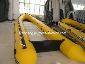 CE 6 Meters Big Hugeyellow Inflatable Fishing Boat for Fun pictures & photos