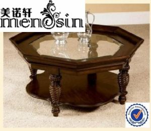 Wood Glass Eight Corner Furniture Dining Cocktail Coffee Table