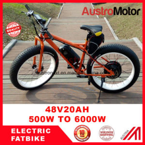 48V750W 72V30ah 6000W Fat Electric Bike 26inch E Fatbike pictures & photos