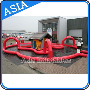 Inflatable Go Karts Race Track with House /Inflatable Zorb Race Track pictures & photos