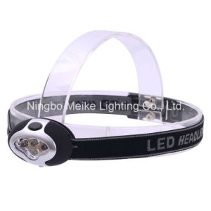 Portable Camping Outdoor Light 3+1 LED Headlamp (MK-3604)