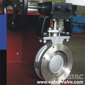 Double-Offset Double Flanged Stainless Steel Butterfly Valve pictures & photos