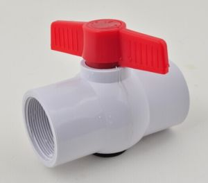 Various Plastic Handle New Material Ball Valve PVC Made in China pictures & photos