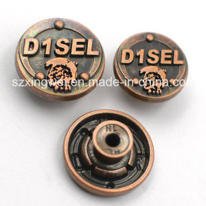 Copper Metal Jeans Button with Customized Logo pictures & photos